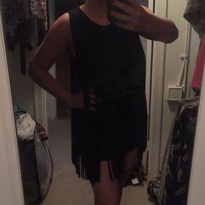 NWT Michael Kors black fringe tunic/ dress